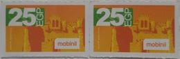 Block Of 2  (Mobinil Small Size Phone Cards) (Egypt) (Egypte) (Egitto) (Ägypten) (Egipto) (Egypten) - Egypt