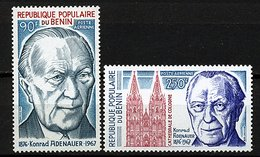 Rep. Benin ** PA N° 256/257 - Cent. De La Naissance D'Adenauer