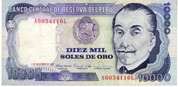 Peru P.124 10000 Soles 1981 Xf - Pérou