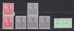 Reichspost Germania 2(4) Und 10 Pf  Postfrisch Untere 10 Pf Marke Defekt, Originalgummi