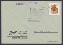 Kloster Chorin 15 Pf. Wirtschafts-Drucksache DDR Plauen (Vogtland) Fahrzeugteile Und Zubehör, MiNr. 1247 - DDR