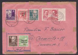 Scharfenstein (Zschopautal) Doppelbrief 21.1.49, Nochmals Verwendet An Gleiche Adresse 16.3.49, Rosa Luxemburg