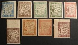 LOT R1631/1436 - COLONIES FR. - TIMBRES TAXE N°18 à 26 - NSG - Cote : 64,00 €