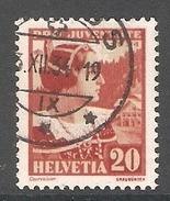 004443 Switzerland Pro Juventute 1934 20c FU - Pro Juventute