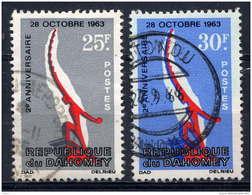 DAHOMEY - 229/230°  - 2è ANNIVERSAIRE DU 28 OCTOBRE