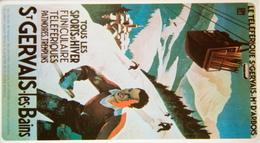 Forfait Ski Combloux Jaillet 3 Mars 96 12,5x7 Cm - Transports