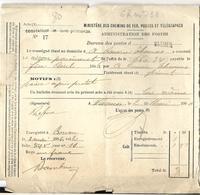 _6Rm-733:  Constatant Le Non Paiement Bureau De Poste: WASMES  1902... Verder Uit Te Zoeken... - Belgien