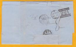1865 - LAC De Leith, Ecosse, GB Vers Reims, France En Port Dû - Via Londres, Calais, Paris (convoyeur Vers Givet) - Storia Postale