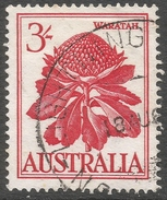Australia. 1959-64 Definitives. 3/- Used. SG 326 - 1952-65 Elizabeth II : Pre-Decimals