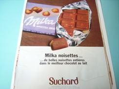 ANCIENNE PUBLICITE CHOCO MILKA SUCHARD 1968 - Affiches