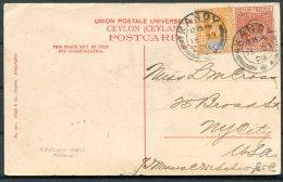 1909 Ceylon Mount Lavinia Hotel Postcard. Kandy - New York, USA