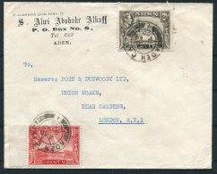 1950 Alwi Abobahr Alhaff Cover, Aden Camp - Union Works,  Bear Gardens, London