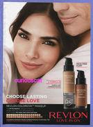 PUBLICITES USA MAGAZINE ADVERTISING WERBUNG REKLAME PUBBLICITI RECLAME PUBLICIDAD For REVLON COLORSTAY MAKEUP - Publicités