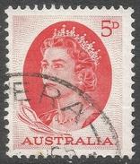 Australia. 1963-5 QEII. 5d Red Used. SG 354c - 1952-65 Elizabeth II : Pre-Decimals