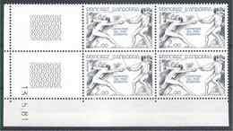 1981 ANDORRE Français 296** Escrime, Coin Daté