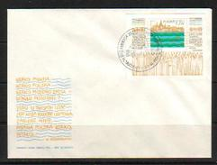 POLAND FDC 1981 VISTULA RIVER PROJECT MS WISLA Fish Old Town Architecture Cathedral Church Trees Polen Pologne