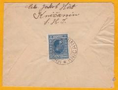 1925 - Enveloppe De  Knicanin, Voivodine, Serbie Vers Philadelphie, USA - Timbre Seul à 3 D - Serbia