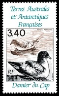 TAAF 1992 - Yv. PA 121 **   Cote= 1,90 EUR - Oiseau Damier Du Cap  ..Réf.TAF20701