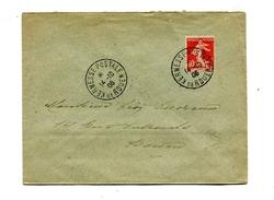 !!! 10C SEMEUSE SUR LETTRE CACHET KERMESSE POSTALE DE ROUEN DU 14/10/1906 - 1877-1920: Période Semi Moderne