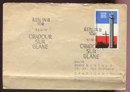 DDR _ Lettre  - Oradour /Glane - 9/9/66