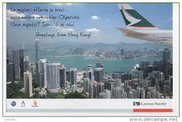 Fre206d Freecard Promocard, Airline Cathay Pacific Airways, Hong Kong, Aereo, Avion, Fly, Compagnia Aerea, Aerienne - 1946-....: Era Moderna