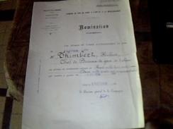 Chemins De Fer Paris A Lyon Et A La Mediterrannee Nomination D Augmentation De Salaire D Un Chef De Gare Annee 1926 - Transports