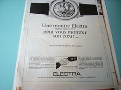 ANCIENNE PUBLICITE MONTRE ELECTRA 1968 - Autres