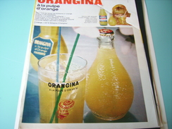ANCIENNE PUBLICITE ORANGINA A LA PULPE D ORANGE 1968 - Posters