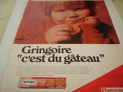 ANCIENNE PUBLICITE GATEAU GRINGOIRE 1968 - Posters