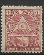 NICARAGUA..1898..Michel # 100 Y...MH. - Nicaragua