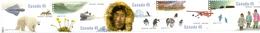 CANADA 1995 50th Anniv Of Arctic Institute Of North America Set (Horiz Strip Of 5v), XF MNH, MiNr 1510-14, SG 1656a