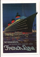 """C G T - French Line - The World's Most Perfect Ship - Paquebot """" Normandie """"  Par H.Omer, Vers 1935 - - Paquebots"""