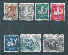 Pays Bas Timbres De 1929/30 N°222 A 228    Oblitérés - 1891-1948 (Wilhelmine)