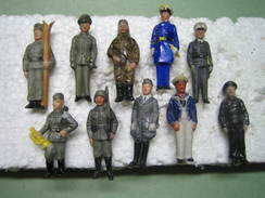 Winterhilfswerk (WHW)  Soldaten Der Wehrmacht,  Tieste 118- 127, Komplette Serie!   Porzellan - Germany