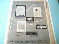 ANCIENNE PUBLICITE LA QUALITE DIENER 1955 - Alcohols
