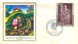 PREMIER JOUR BOISERIE DU MOUTIER D'AHUN CREUSE 28 MAI 1973 - FDC