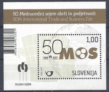 SLOVENIA 2017 Business - 50th International Trade And Business Fair MOS Celje Recent Souvenir Sheet **MNH Michel # B98 - Slovénie