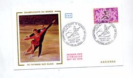 Lettre Fdc 1971 Championnat Monde Patinage