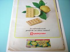 ANCIENNE PUBLICITE GAUFRETTE CITRON GRINGOIRE 1965 - Posters