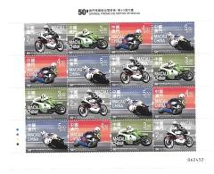Macau Macao 2016 50th Motorcycle Grand Prix Sheet MNH - 1999-... Chinese Admnistrative Region