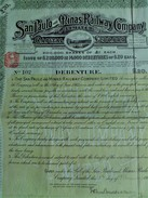 SAN PAULO And MINAS RAILWAY COMPANY - SHAREHOLDING 1908 - Chemin De Fer & Tramway