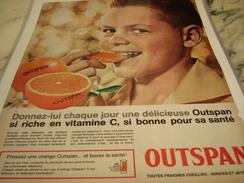 ANCIENNE PUBLICITE ORANGE OUTSPAN 1964 - Posters