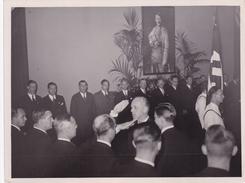 PHOTO DE PRESSE ORIGINALE 39 / 45 WW2 WEHRMACHT FRANCE LE DIPLOMATE ALLEMAND VON RIBBENTROP EN VISITE A PARIS