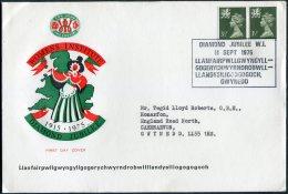 1975 GB Wales Womens Institute Diamond Jubilee Cover. - 1952-.... (Elizabeth II)