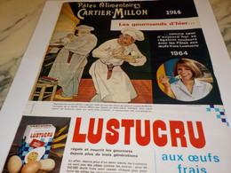 ANCIENNE PUBLICITE PATES ALIMENTAIRES LUSTUCRU 1964 - Posters