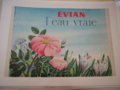 ANCIENNE PUBLICITE EVIAN L EAU VRAIE 1964 - Posters