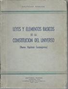 LEYES Y ELEMENTOS BASICOS DE LA CONSTITUCION DEL UNIVERSO NUEVA HIPOTESIS COSMOGONICA LIBRO AUTOR BALTASAR BASONE - Cultural