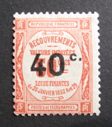 LOT R1631/356 - TIMBRE TAXE N°50 - NEUF * - Cote : 12,00 € - 1859-1955 Mint/hinged