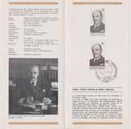 Feuillet Poste FDC 1512 Comte Henry Carton De Wiart