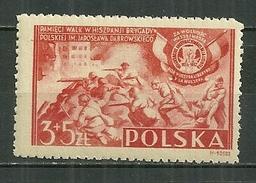 POLAND MNH ** 464 BRIGADE DOMBROWSKI. LEGION POLONAISE EN ESPAGNE